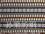 民族风提花面料 服装女装面料 彩色波浪色织涤棉布