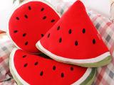 厂家批发毛绒公仔午休西瓜抱枕创意沙发水果靠垫活动礼品定制