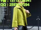 广州外贸库存尾货呢子外套清仓处理赶集热销女装呢子大衣批发市场