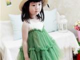 2014夏款童装连衣裙 韩版女童公主网纱童裙一件代发