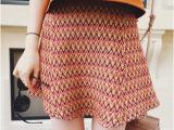 vcruan2015夏新品民族风针织伞裙半身裙