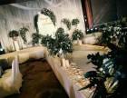 海南婚礼布置 舞台灯光 音响屏幕 花艺软装