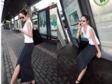 欧美风踝长裙子半身长裙纯色长裙S4S81