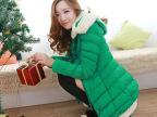 2014秋冬新款韩版女中长款修身轻薄绒羽棉服女加厚棉衣