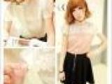 2013新款女士春季打底衫衬衣女雪纺衫短t恤 休闲衬衫批发 60