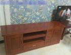 全新实木床、床头柜、电视柜转让