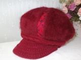 中老年帽子女冬天保暖帽毛线帽子秋冬季针织