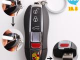 生产厂家保时捷车钥匙USB充电打火机 USB环保电子点烟器带钥匙