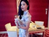 微信代理2015欧美夏季新款刘美人同款典雅显高贵气质真丝印花旗袍