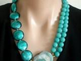 绿松石喇叭山高瓷蓝珠子瓷度 翠峦