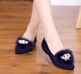 秋冬必备款尖头平底平跟女鞋百搭舒适单鞋毛