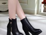 女靴2014新款冬季 短靴高跟女 棉靴女鞋真皮欧洲站马丁靴批发