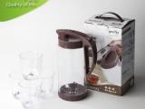 625柔雪套装水壶 冷水壶套装 茶壶塑料套装 塑料冷水壶