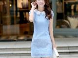 2014夏季女装新款品牌修身连衣裙欧根纱拼接蕾丝连衣裙