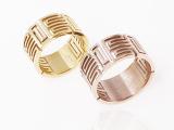 复古 镂空门男女通用戒指 指环两色可选 钛钢饰品批发促销