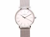 东莞奥美茄手表承接超薄新款进口高端石英银白女士腕表定制批发