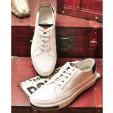 欧美外贸2015新款牛皮内里男士真皮休闲鞋高端广州品牌鞋白色皮鞋