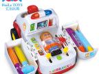 汇乐836全能救护车音乐灯光万向车 早教益智玩具 儿童过家家医具