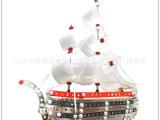 德国金属拼装轮船DIY金属合金拼装复古轮船系列益智玩具 玩具批发