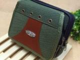 休闲双拉帆布军绿户外加大挂包包 可以放钱多用运动 烟包 批发