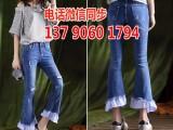 批发发5元牛仔裤尾货去广州哪里有库存牛仔裤清货