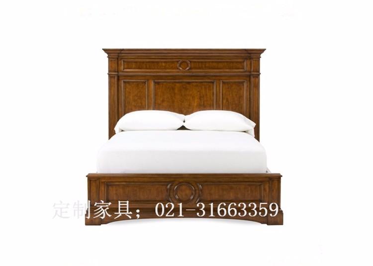 上海实木床定制定做-纷呈定制