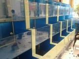 盐城射阳鱼缸定做制作酒店海鲜鱼缸观赏鱼缸大闸蟹鱼缸维修