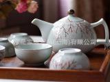 原是家居 日式手绘 烂漫红梅 茶具套装 茶壶茶杯 品茗 居家良品