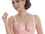 正品B杯竹炭保健内衣 刺绣聚拢调整型收副乳文胸 五排扣薄款胸罩