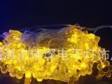 厂家直销LED彩灯 带花件装饰小灯串 户外防水串灯