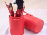 深圳凯诺厂家批发桶装12支化妆刷 美妆工具彩妆刷桶招代理