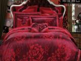 南通产地  厂价直批床品套件高档丝加棉贡缎镂空大提花四件套