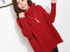 2014冬季新款韩版麻花 高领毛衣 宽松套头 针织衫女东大门外套 厚