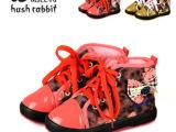 女童棉鞋哈比特时尚新款童鞋 复古帆布保暖鞋棉鞋女童靴