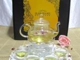 玻璃花茶具套装 耐热花茶壶杯泡茶器 双层茶杯 送礼礼品赠品