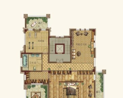 绿地香树花城别墅出租 5室4厅213平米 毛坯 年付