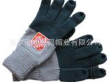 外贸出口五指手套 男士针织手套 绣花针织手套 高弹力五指手套