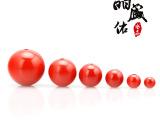 台湾天然原色朱砂散珠4-14mm 圆珠 串珠 diy朱砂饰品配件