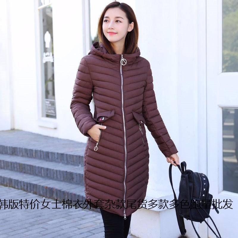 上海哪里有外套棉衣批发 中长款中年妈妈装棉衣库存尾货批发