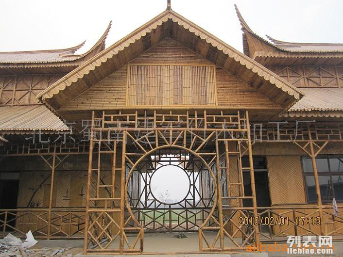 主要经营竹建筑 竹房子 竹别墅 室内竹装潢 竹门楼
