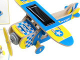 批发代发木质太阳能飞机210飞机模型拼装6岁男孩木制益智儿童玩具