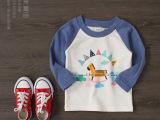 外贸儿童打底衫 秋季新款长袖童t恤 韩版纯棉原单童装打底衫批发