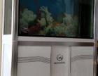白色闽江水晶底滤循环鱼缸长120cm宽43cm高155cm