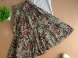 54 韩版民族风亚麻裙子 半身裙长裙
