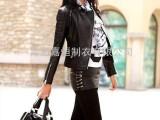 韩版立领女式皮衣