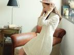 秋季新款批发纯棉长袖蕾丝镂空打底长袖连衣裙1件起批