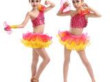 2015新款 六一儿童舞蹈演出服装女童蓬蓬裙套装现代舞表演服