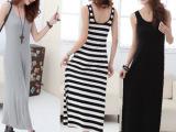 超值跑量 女装 莫代尔沙滩拖地长裙 纯色连衣裙 裙子批发SQ01