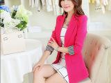 2014新款秋装小西装女外套韩版潮修身中长款大码小西服