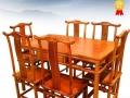 缅甸花梨餐桌价格图片精湛技术纯手工雕刻 王义红木家具